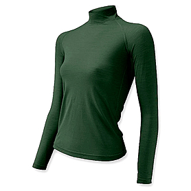 Термофутболка женская с длинным рукавом Lasting Sery (темно-зеленая) - M