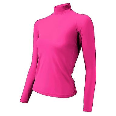 Термофутболка женская с длинным рукавом Lasting Sery (розовая)