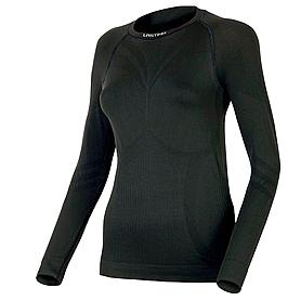 Термофутболка женская с длинным рукавом Lasting Atala (черная) - S/M