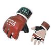 Перчатки без пальцев кожаные Velo Pro Fight (красные) - фото 1