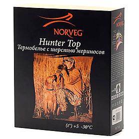Фото 5 к товару Термофутболка унисекс с длинным рукавом Norveg Hunter (черная)