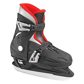 Коньки детские раздвижные Roces Kids adjustable Ice skates (черно-красные)