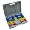 Набор гантелей виниловых в кейсе FitLogic BDB-01B - фото 1