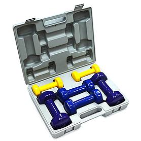 Набор гантелей виниловых в кейсе FitLogic BDB-01C