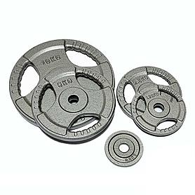 Диск стальной 10 кг FitLogic с хватами – 26 мм