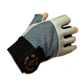 Фото 2 к товару Перчатки без пальцев Gold Gym с сеткой
