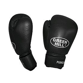 Фото 1 к товару Перчатки боксерские кожаные Green Hill Punch2 черные