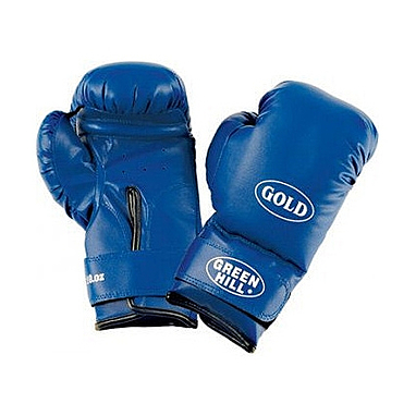 Перчатки боксерские Green Hill Gold синие