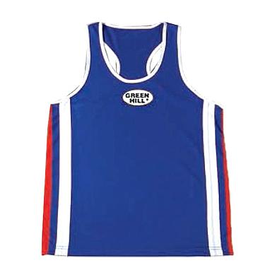 Майка боксерская Green Hill Olympic (синяя)