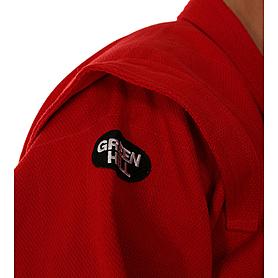 Фото 3 к товару Куртка для самбо Green Hill красная