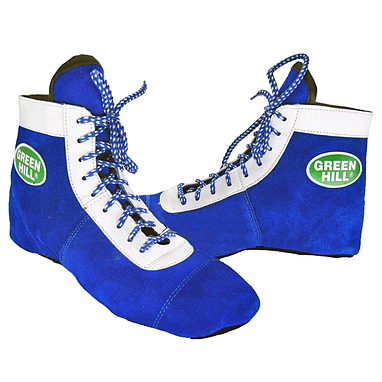 Обувь для занятий самбо (самбетки) синяя Green Hill