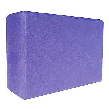 Йога-блок Pro Supra 15,5x7,5 см фиолетовый