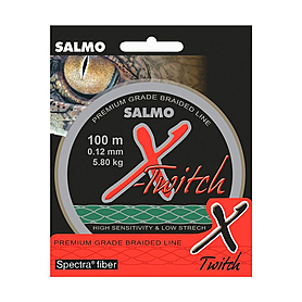 Шнур Salmo X-Twitch 100м 0,12мм 5,80кг темно-зеленый