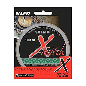 Шнур Salmo X-Twitch 100м 0,14мм 7,30кг темно-зеленый