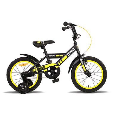 Велосипед детский Pride Flash 16'' 2015 черно-желтый матовый