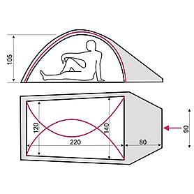 Фото 3 к товару Палатка двухместная Terra Incognita Maxlite 2 Alu