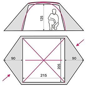 Фото 3 к товару Палатка трехместная Terra Incognita Omega 3 песочная