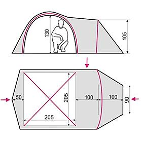 Фото 2 к товару Палатка трехместная Terra Incognita Geos 3 песочная