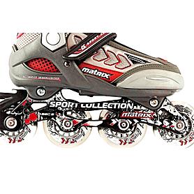 Фото 2 к товару Коньки роликовые Спортивная коллекция Matrix Deluxe Bordo