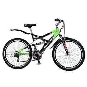 """Велосипед горный Avanti Lotus Disk 26"""" черно-зеленый рама 19"""""""