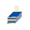 Мешок спальный (спальник) Terra Incognita Termic 1500 правый синий-серый - фото 2
