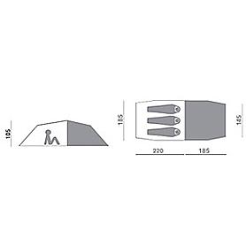Фото 2 к товару Палатка трехместная Hannah Shack