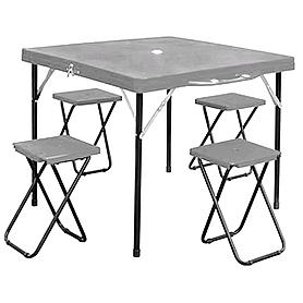 Стол раскладной + 4 стула TO-8833-B
