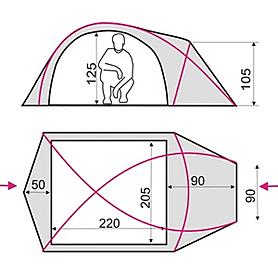 Фото 4 к товару Палатка трехместная Terra Incognita Ksena 3