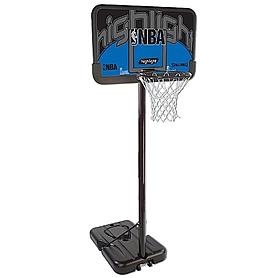 "Стойка баскетбольная (мобильная) Spalding NBA Silver Highlight 44"" Rectangle Composite"