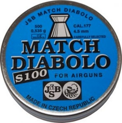 Фото 1 к товару Пули JSB Match Diabolo S 100 4,5 мм