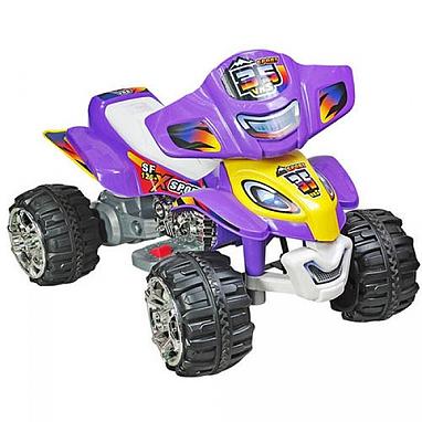 Квадроцикл электрический детский Profi Bambi фиолетовый