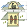 Палатка двухместная Rondo 2 Alexika - фото 3