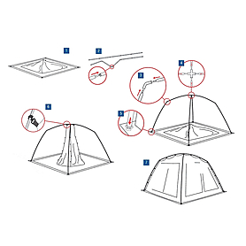 Фото 4 к товару Тент-палатка China House Alexika зеленая