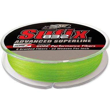 Шнур Sufix 832 120м 0,15мм 9,2кг Neon Lime