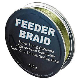 Фото 1 к товару Шнур Sufix Feeder braid 100м 15lb 0,14мм 6,8кг Olive green