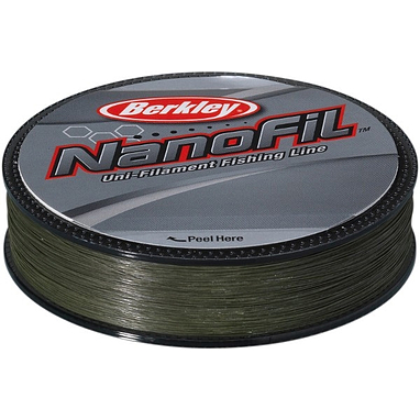 Шнур Berkley NanoFil 125м 0,08мм 4,012кг зелёный