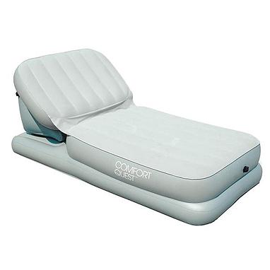 Кровать-шезлонг надувная односпальная Intex 67386 (211х104х81 см)