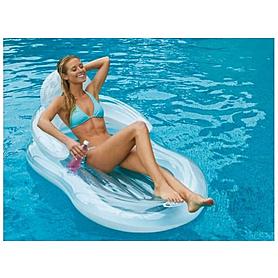 Фото 2 к товару Матрас надувной пляжный со спинкой Intex 58857 (155х97 см)