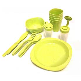 Фото 3 к товару Набор посуды для пикника на 4 персоны + складной столик