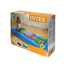 Фото 3 к товару Матрас надувной детский с покрывалом Intex 66802 (152х64х20 см)