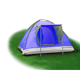 Палатка трехместная Mountain Outdoor Skyroc (ZLT) 213х197х133 см синий