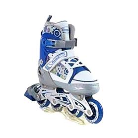 Фото 1 к товару Коньки роликовые раздвижные Profi 3012 сине-белые