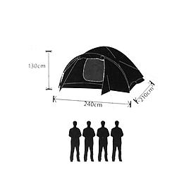Фото 3 к товару Палатка четырехместная Mountain Outdoor (ZLT)
