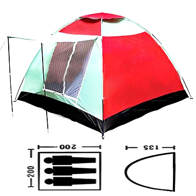 Палатка трехместная Mountain Outdoor (ZLT) 200х200х135 см