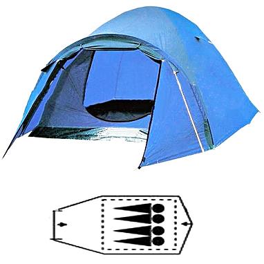 Палатка четырехместная с тентом FRT-211-4 330х245х130 см