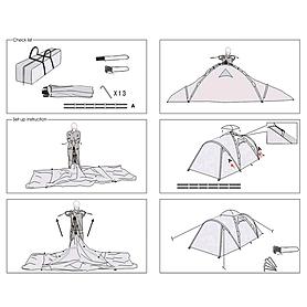 Фото 8 к товару Палатка трехместная Transcend 3 Easy Click Кемпинг