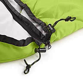 Фото 6 к товару Мешок спальный (спальник) Кемпинг Peak с капюшоном салатовый