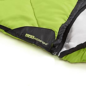 Фото 7 к товару Мешок спальный (спальник) Кемпинг Peak с капюшоном салатовый