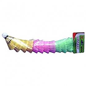Воланы для бадминтона пластиковые MS 0153 (12 шт)