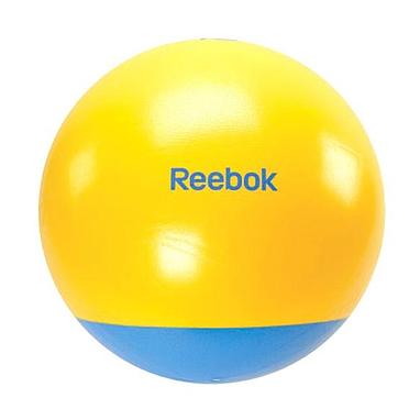 Мяч для фитнеса (фитбол) 65 см Reebok с усиленным дном желтый с голубым